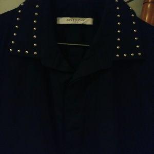 Givenchy Studded Color poplin shirt